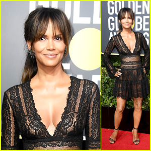 Halle Berry Stuns in Sheer on the Red Carpet at Golden Globes 2018!
