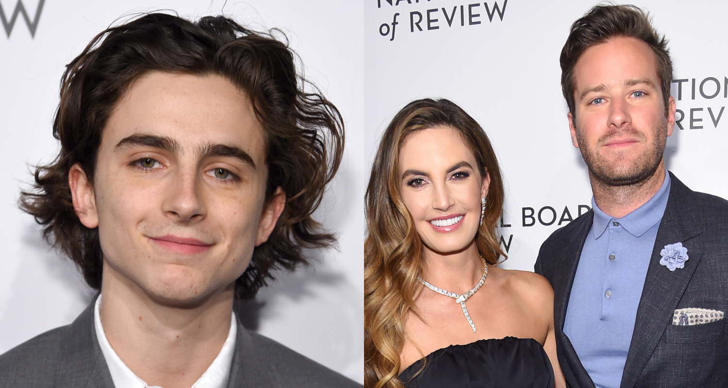 Timothee Chalamet Joins Armie Hammer & Wife Elizabeth at ...