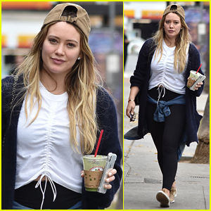 Hilary Duff Goes Makeup-Free During Afternoon Outing