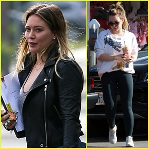 Hilary Duff Kicks Off Her Morning with a Meeting