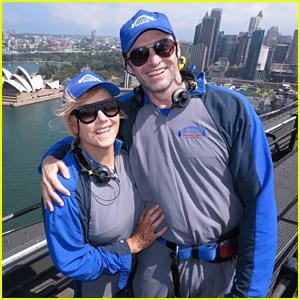 Hugh Jackman & Wife Deborra-Lee Furness Climb Harbour Bridge in Sydney!