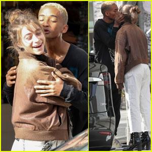 Jaden Smith Steals A Kiss From Girlfriend Odessa Adlon!