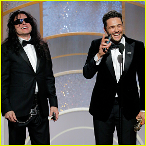 James Franco Wins at Golden Globes 2018, Brings Tommy Wiseau On Stage!