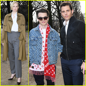 James Marsden Brings Son Jack to Louis Vuitton Menswear Paris Fashion Show!