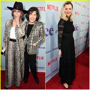 Jane Fonda & Lily Tomlin Celebrate 'Grace & Frankie' Season 4 with Brooklyn Decker & Lisa Kudrow!
