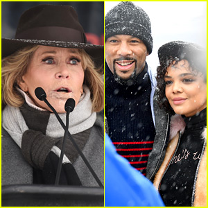Jane Fonda & Tessa Thompson Lead the Women's March Rally at Sundance 2018!