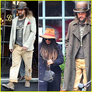 Jason Momoa Shows Off His Unique Style While Out to Lunch With Lisa Bonet