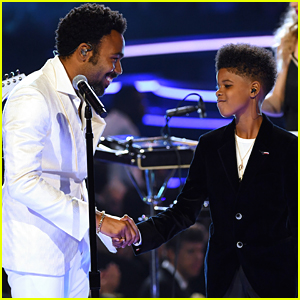 JD McCrary Makes His Grammys Debut with 'Lion King' Co-Star Donald Glover (aka Childish Gambino)