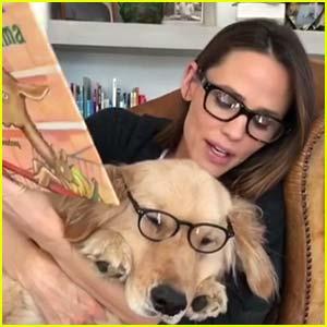Jennifer Garner Enjoys Story Time with Dog Birdie - Watch!