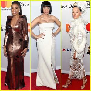 Jennifer Hudson, Cardi B, & Rita Ora Go Glam for Pre-Grammys Party
