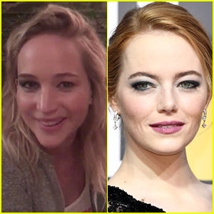 Jennifer Lawrence Did Half Her Makeup for Golden Globes, Then Didn't Go! (Video)
