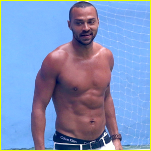 Jesse Williams Goes Shirtless, Bares Ripped Abs While Playing with Soccer in Rio!