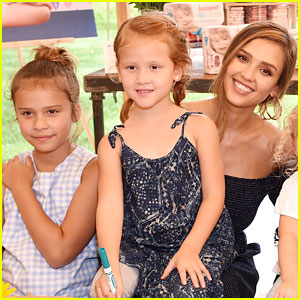 Jessica Alba's Daughters Give Kisses to Baby Brother Hayes