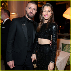 Jessica Biel Bares Midriff with Hubby Justin Timberlake at NBC & USA's Golden Globes After Party!