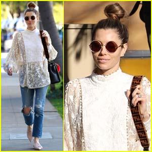 Jessica Biel Goes Hippie Chic While Running Errands