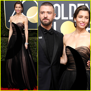 Jessica Biel's Husband Justin Timberlake Supports Her at Golden Globes 2018!