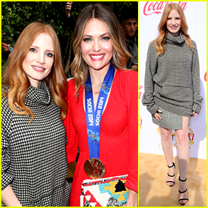 Jessica Chastain Meets Sports Stars at Gold Meets Golden Event!