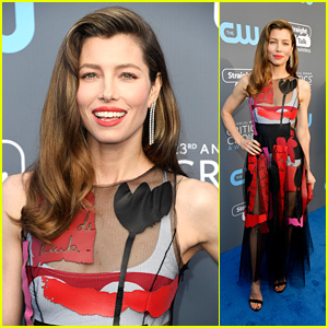 Jessica Biel Is Beautiful in Black Tulle at Critics' Choice Awards 2018!