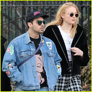 Joe Jonas & Fiancee Sophie Turner Step Out in Style Ahead of the Grammys 2018