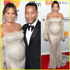 John Legend & Chrissy Teigen Couple Up for Pre-Grammys Party