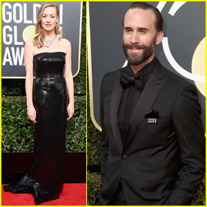 Yvonne Strahovski & Joseph Fiennes Bring 'Handmaid's Tale' to Golden Globes 2018