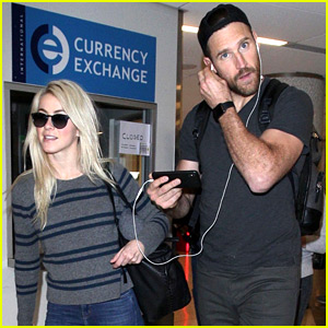 Julianne Hough Flies Home to L.A. with Husband Brooks Laich