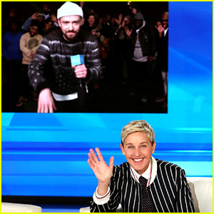 Justin Timberlake Surprises Ellen DeGeneres on Her Birthday Show! (Video)