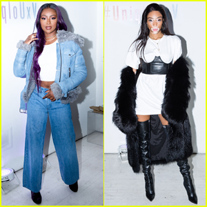 Justine Skye & Winnie Harlow Step Out for Uniqlo U x V Magazine Launch Party!