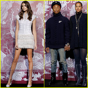 Kaia Gerber & Pharrell Williams Are 'Chanel' Chic in Hong Kong