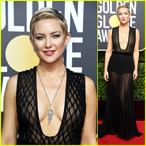 Kate Hudson Looks Stunning on the Red Carpet at Golden Globes 2018!