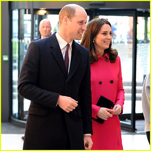 Pregnant Kate Middleton Covers Baby Bump in Bright Pink Coat