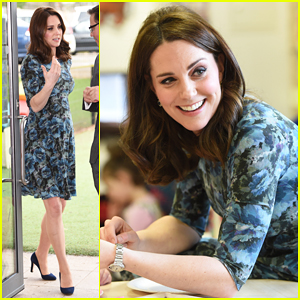 Kate Middleton Shows Off Baby Bump During Reach Academy Feltham Visit!