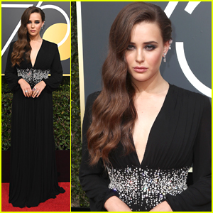 '13 Reasons Why's Katherine Langford Attends Her First Golden Globes