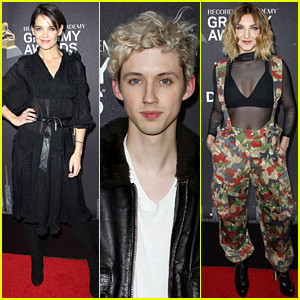 Katie Holmes Joins Troye Sivan & Julia Michaels at Delta's Pre-Grammys Party