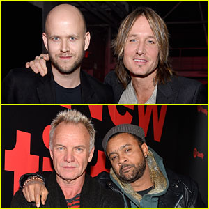 Keith Urban, Sting, & Shaggy Join Forces at Spotify's Best New Artist Party