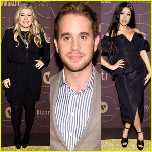 Kelly Clarkson Joins Ben Platt & Cardi B at Pre-Grammys Party in NYC