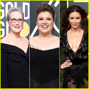 Kelly Clarkson Freaks Out After Meeting Meryl Streep & Catherine Zeta-Jones at Golden Globes 2018 - Watch!