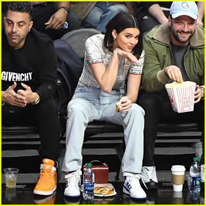 Kendall Jenner Makes Funny Faces & Cheers on Boyfriend Blake Griffin at Clippers Game!