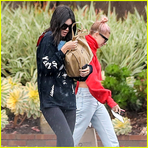 Kendall Jenner & Hailey Baldwin Brave the Rain While Meeting Up at a Lawyer's Office!