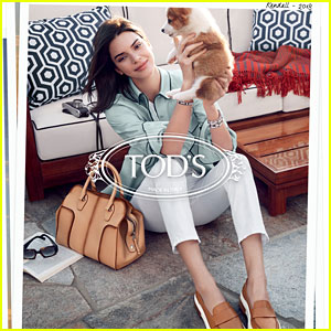 Kendall Jenner Plays With Cute Puppy In Tod's Spring 2018 Campaign