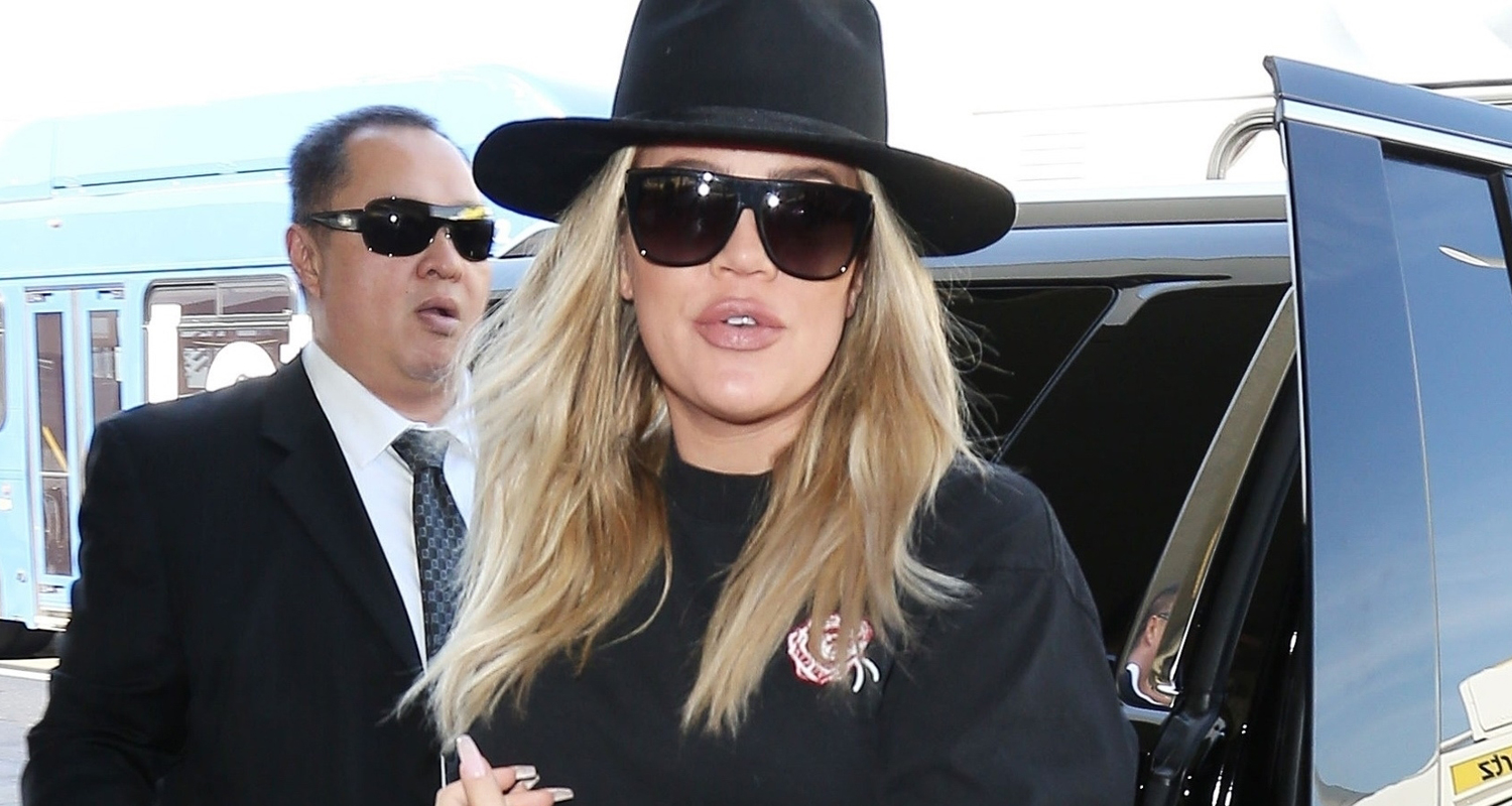Khloe Kardashian Conceals Her Bump While Jetting Out of LA