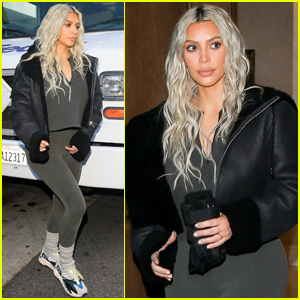 Kim Kardashian Steps Out After Being Surprised With Flash Mob!