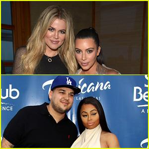Kim & Khloe Kardashian React to Rob Kardashian & Blac Chyna Feud