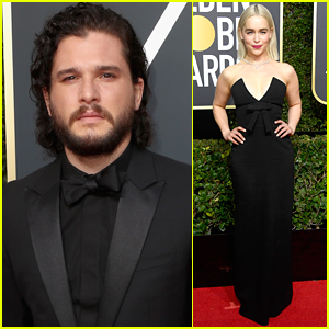 Kit Harington Joins Emilia Clarke at Golden Globes 2018