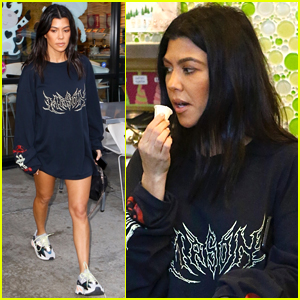 Kourtney Kardashian Flaunts Toned Legs While Out in LA