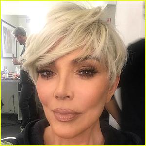 Kris Jenner Debuts New Platinum Blonde Hair for 2018!