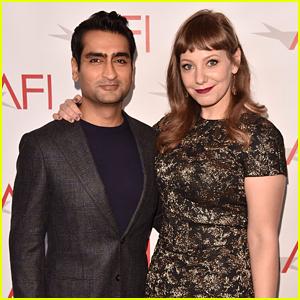 The Big Sick's Kumail Nanjiani Couples Up with Wife Emily V. Gordon at AFI Awards 2018