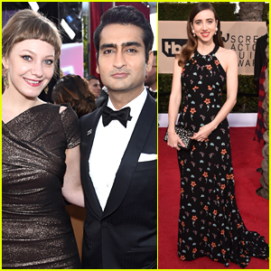Kumail Nanjiani & Wife Emily V. Gordon Bring 'The Big Sick' to SAG Awards 2018!