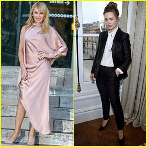 Kylie Minogue & Melissa George Get Their Fashion Show Fix in Paris
