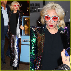 Lady Gaga Gets Metallic While Out With Rumored Fiance Christian Carino